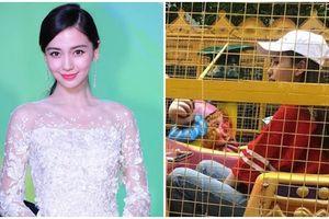 Phớt lờ tin đồn rạn nứt với Huỳnh Hiểu Minh, Angelababy đưa con trai đi chơi công viên