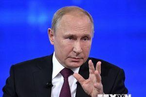 Tổng thống Nga Vladimir Putin ký phê chuẩn dự luật đình chỉ INF