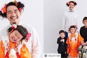 'Ông bố của năm': Nuôi tóc dài 2 năm chỉ để chụp ảnh 'ton sur ton' cùng con gái