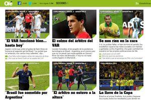 Báo Argentina đổ lỗi cho trọng tài, cầu xin Messi không từ bỏ
