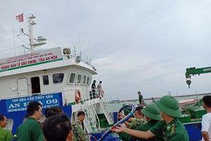 Khắc phục được sự cố tràn dầu do tàu chìm ở đảo Phú Quý