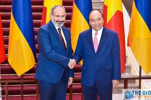 Lễ đón chính thức Thủ tướng Armenia tại Phủ Chủ tịch