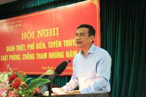 Thái Bình: Thực hiện nghiêm công tác phòng, chống tham nhũng