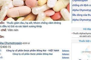 Thu hồi lô thuốc kháng viêm Alphachymotrypsin 4200