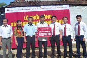 Agribank Thành Sen Hà Tĩnh xây 10 nhà tình nghĩa cho gia đình khó khăn