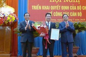 Chủ tịch tỉnh Hà Tĩnh Đặng Quốc Khánh được điều động, bổ nhiệm giữ chức Bí thư Tỉnh ủy Hà Giang