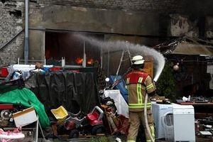 Đánh giá thiệt hại sau vụ cháy Trung tâm thương mại Đồng Xuân ở Berlin