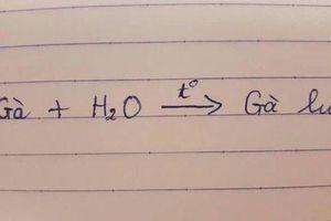 Cười nghiêng ngả với cậu học sinh 'giỏi' Hóa học của năm, giải phương trình 'bá đạo' vô cùng