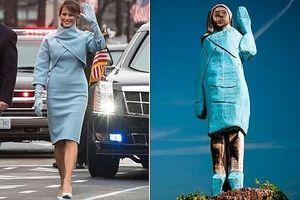 Bức tượng Đệ nhất phu nhân Mỹ Melania Trump tại quê nhà gây tranh cãi