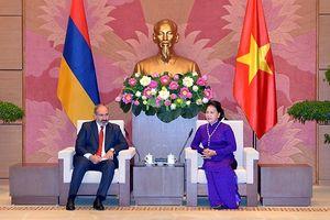Chủ tịch Quốc hội Nguyễn Thị Kim Ngân hội kiến Thủ tướng Ác-mê-ni-a N.Pa-si-ni-an