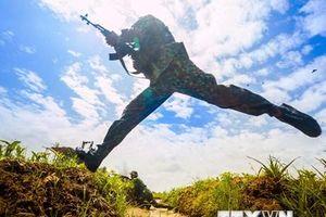 Lực lượng vũ trang Hậu Giang diễn tập tiến công địch đổ bộ đường không