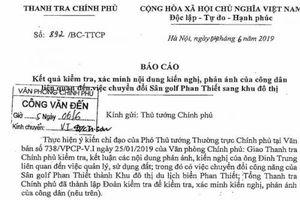 Vụ chuyển sân golf Phan Thiết sang khu đô thị: Tỉnh thu tiền sử dụng đất chưa chính xác