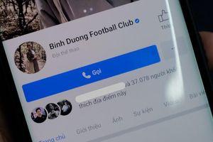 Fanpage CLB Becamex Bình Dương có tích xanh rao bán giá 65 triệu