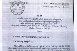 Những băn khoăn trong công tác thực hiện đề án trẻ hóa cán bộ lãnh đạo ở Bình Định
