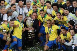 Thẻ đỏ, phạt đền, Brazil giành hết vinh quang Copa America