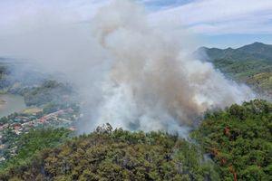 Hà Tĩnh: Cháy rừng thông tại huyện miền núi Hương Sơn, nhiều xã mất điện