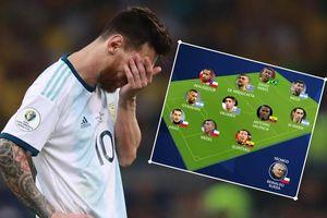 Messi 'cầm đầu' đội hình gây thất vọng nhất Copa America 2019