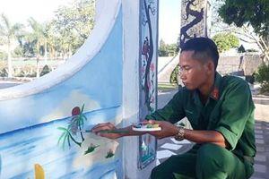 Binh nhất Moong Văn May 'họa sĩ' của trung đoàn