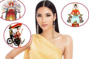 Xích lô, bàn thờ vào Top 18 trang phục dân tộc cho Hoàng Thùy tại Miss Universe
