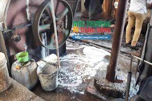 Thanh Trì (Hà Nội): Công ty giặt mài Đồng Tâm xả thải trái phép, gây ô nhiễm môi trường