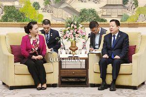Chủ tịch Quốc hội Nguyễn Thị Kim Ngân tiếp Bí thư Thành ủy thành phố Tô Châu