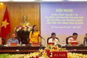 Bộ trưởng Bộ Y tế thị sát cơ sở 2 của Bệnh viện Việt Đức và Bạch Mai
