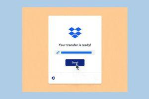 Dropbox Transfer cho phép gửi tập tin lên đến 100 GB