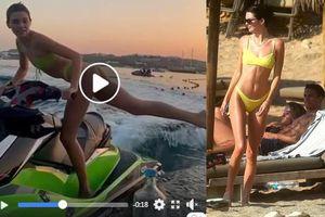 'Chân dài đắt giá nhất 2018' mặc bikini xoay người đá bật nắp chai gây sửng sốt