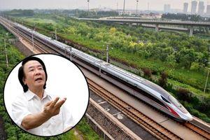 TS Nguyễn Xuân Thủy: 'Nên kết hợp 2 phương án làm đường sắt cao tốc Bắc - Nam của Bộ GTVT và Bộ KH-ĐT'