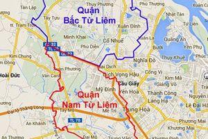 Hà Nội điều chỉnh địa giới một số quận