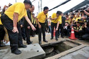 Bangkok xây dựng giếng ngầm chứa nước chống ngập
