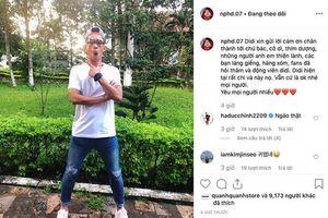 Hồng Duy trấn an fan sau chấn thương bằng loạt ảnh 'lầy lội'