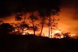 Cháy rừng liên tiếp trong ngày 11.7 ở Quảng Ngãi