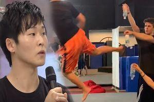 'Thần cước' Hàn Quốc bật nắp 3 chai nước bằng cú đá lăng không 720 độ