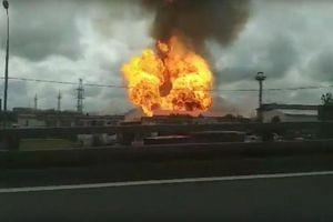 Nhà máy điện ở Moskva (Nga) bốc cháy dữ dội