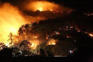 Nóng: Tiếp tục cháy rừng ở Hà Tĩnh, người dân phải sơ tán trong đêm