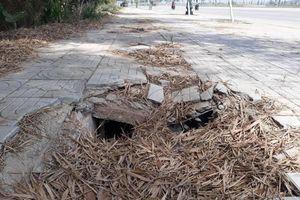 Hiểm nguy từ những hố cáp trên con đường khang trang nhất Quảng Ngãi