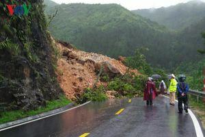 Mưa lớn gây sạt lở nhiều tuyến quốc lộ ở Lai Châu