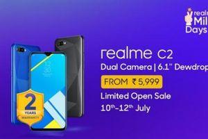 Realme C2 đạt doanh số một triệu máy trong thời gian ngắn