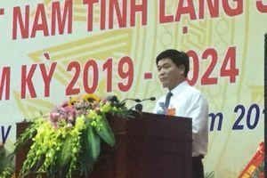 Ông Nông Lương Chấn tái cử chủ tịch Ủy ban MTTQ tỉnh Lạng Sơn