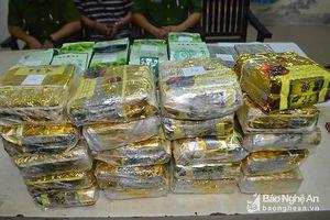 Công an Nghệ An thu giữ gần 105kg ma túy các loại trong 1 tháng