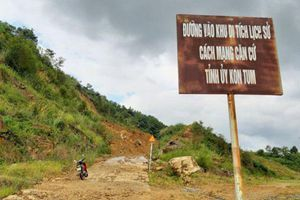 Kon Tum: Mới khắc phục, tuyến đường vào Khu di tích căn cứ lại sạt lở