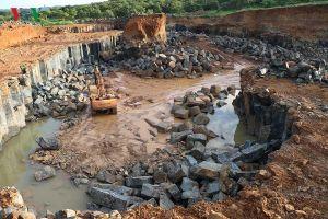 Phát hiện mỏ khai thác đá trái phép quy mô lớn tại Bình Phước