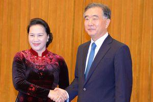 Chủ tịch Quốc hội hội kiến Chủ tịch Chính hiệp Trung Quốc Uông Dương
