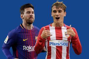 Griezmann cùng Messi tạo hàng công hủy diệt ở Barca