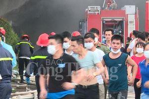 Vĩnh Phúc: Dập tắt đám cháy lớn tại công ty Dong Yang Electronics Việt Nam