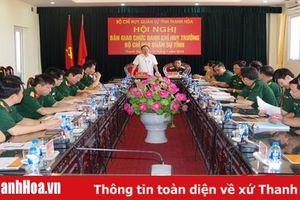 Bàn giao chức danh Chỉ huy trưởng Bộ CHQS tỉnh Thanh Hóa