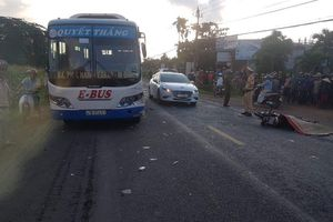 Tài xế xe máy tử vong sau cú va chạm với xe buýt
