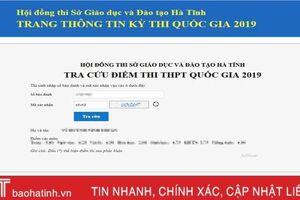 Hướng dẫn tra cứu kết quả thi THPT Quốc gia cụm Hà Tĩnh