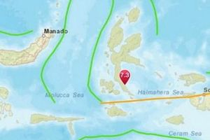 Dư chấn cường độ 5,8 xảy ra sau động đất tại Indonesia